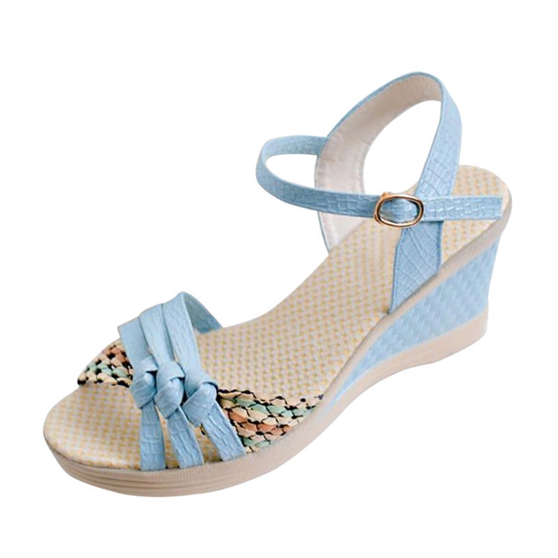 Summer Style Women Wedges Sandals 2016 Sweet Casual Ladies Platform Gladiator Sandals Open Toe Flats Dress Shoes Woman XWZ1319 timetang 2017 leather gladiator sandals comfort creepers platform casual shoes woman summer style mother women shoes xwd5583
