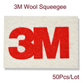 50Pcs 3M Soft Wool Squeegee Scraper Vinyl Film Car Sticker 3D Carbon Fiber Wrapping Advertising Installation Tool A50