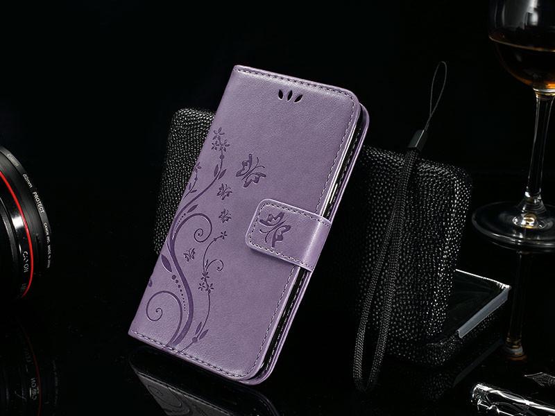 Dla microsoft nokia lumia 640 lumia 630 lumia 550 worek nadrukowane butterfly pu wizytownik skórzany telefon okładka case shell 17