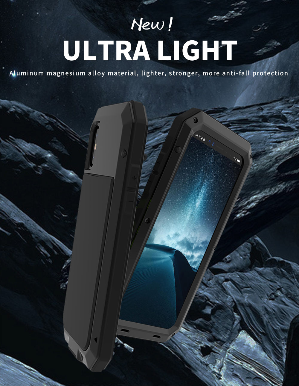 For iPhone X Tactical Waterproof Case (1)