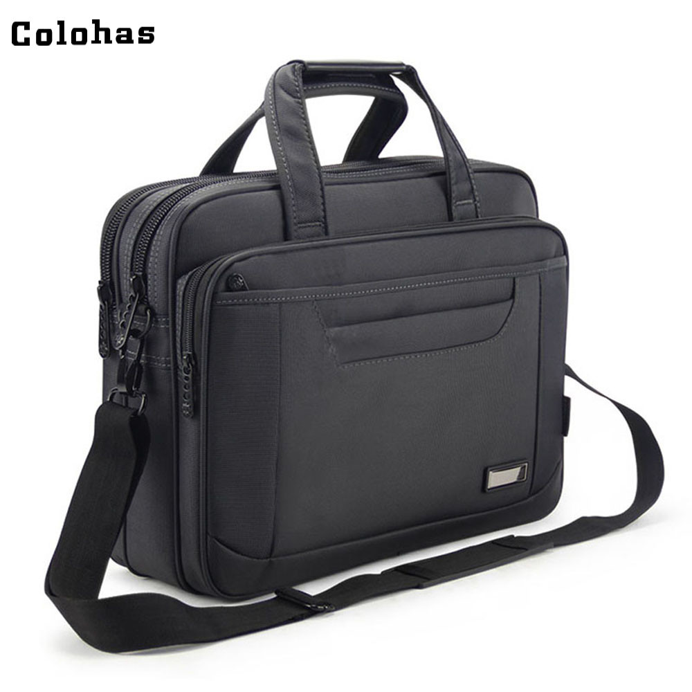 15 15.6 inch Computer Bag Men Business Travel Handbag Single Shoulder Messenger Bag Briefcase for Casual Work School men black business travel briefcase 15 inch laptop computer notebook handbag single shoulder messenger bag portfolio for macbook