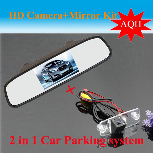 Promoción sistema de Auto estacionarse para Hyundai Elantra Terracan Tucson acento CCD cámara de visión trasera + HD espejo retrovisor del coche