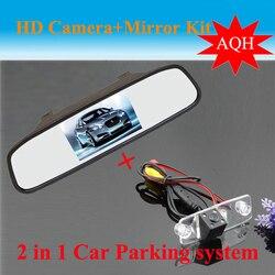 Promocja Auto System parkowania dla Hyundai Elantra Terracan Tucson akcent CCD widok z tyłu samochodu kamera + HD samochód lusterko wsteczne
