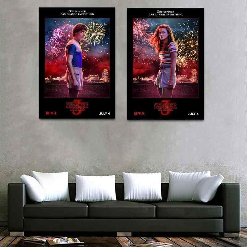 غريب الأشياء الموسم 3 الملصقات التلفزيون الفيلم ملصق فني ل جدار غرفة المعيشة الديكورات 40x60 سنتيمتر 30x40 سنتيمتر 2019 جديد