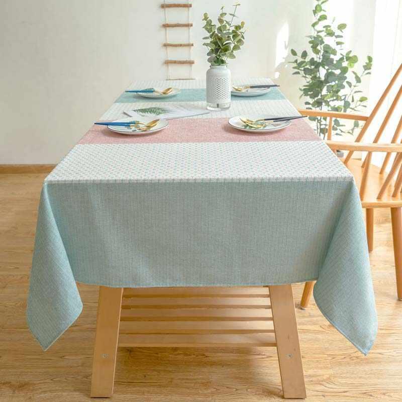 ห้องครัวกันน้ำตารางผ้าผ้าปูโต๊ะรูปสี่เหลี่ยมผืนผ้า Tablecloths Pastoral โต๊ะรับประทานอาหาร Obrus Tafelkleed mantel mesa nappe