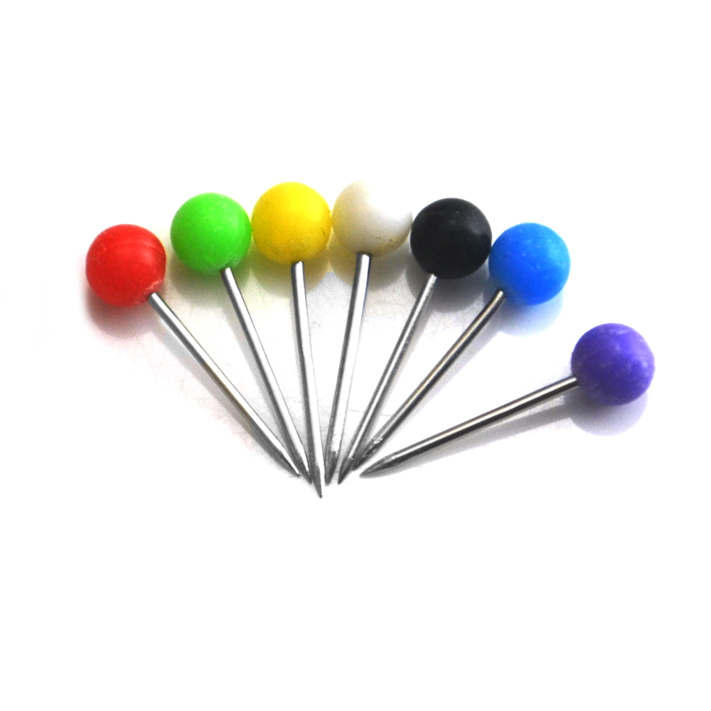 50PCS/Bag Colorful Plastic Fishing Pin Position Mark Bead Needle Pin Dia. 4MM For Fishing Line Wire Fishing Tackle Accessory