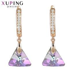 Xuping висячие серьги винтажные кристаллы от Swarovski Европейский стиль ювелирные изделия подарок на Новый год для женщин девочек S185-20539
