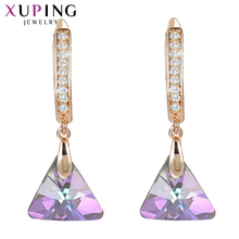 Xuping Dangle Earrings Vintage Crystals from Swarovski European Style Jewelry New Year Day Gifts for Women Girls S150-20539