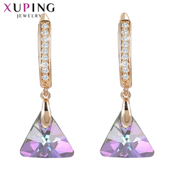 Xuping Dangle Earrings Vintage Crystals from Swarovski European Style Jewelry New Year Day Gifts for Women Girls S185-20539
