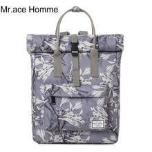 Mr. ace homme ретро портативный школьники сумки девушки женский цветок печати рюкзак 2017 новая модная Корейская Повседневная дорожная сумка