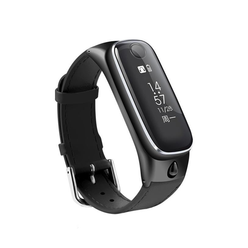 NEW clock smartwatch Bracelet Sports Smartband Bluetooth Smart watches Headset headphones For IOS for Android TOP