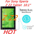 """Z Z2 9H 0.3mm Explosion-Proof For Sony Xperia Z Z2 Tablet  10.1"""" Tablet  Toughened Tempered Glass PC Film Clear Screen Protector"""