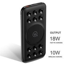 Original 10000mAh Wireless Power Bank QC3.0 18W PD Wireless