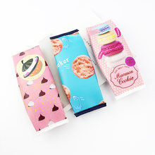 Korean snacks biscuits PU pen bag creative student stationery storage bag products, Ma Caron pencil box(China)