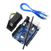 1PCS FPM10A Fingerprint Module 1pcs UNO R3 MEGA328P With Usb Cable