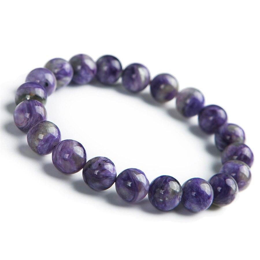 Genuine Natural Purple Charoite Gems Round Loose Beads Jewelry Charm S Bracelet 10mmGenuine Natural Purple Charoite Gems Round Loose Beads Jewelry Charm S Bracelet 10mm