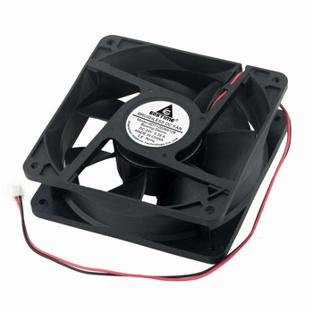 50 Pieces Gdstime DC 24V PC Cooling Fan 120*120*38mm 12cm 2Pin Computer Case Motor Cooler 120mm x 38mm 12038s 0.35A