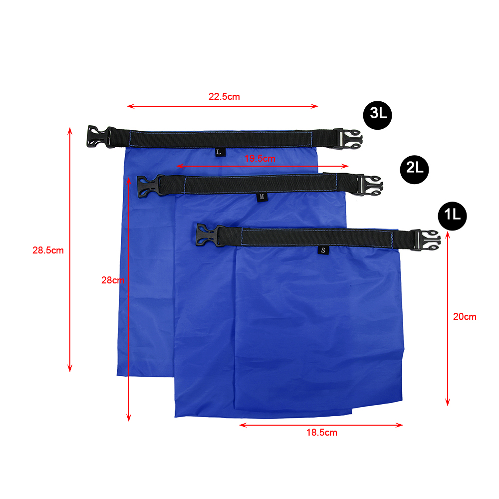 Image 4 - 1L+2L+3L Waterproof Dry Bag Pack Sack Swimming Rafting Kayaking River Trekking Floating Sailing Canoing Boating Water Resistance-in Storage Bags from Home & Garden