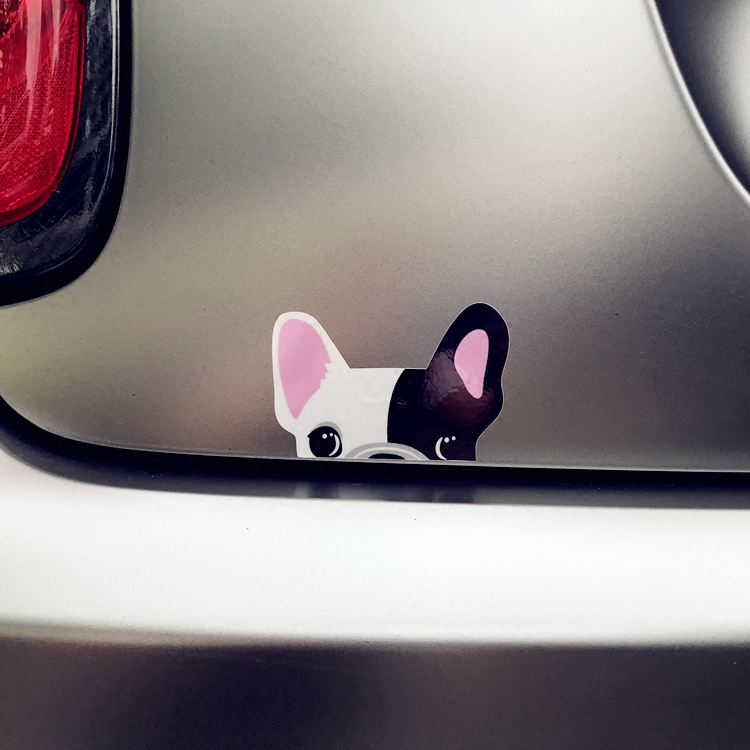 Car Stickers Cute Chihuahua French Bulldog Reflective Sticker For Audi S Sline Bmw M3 Etc