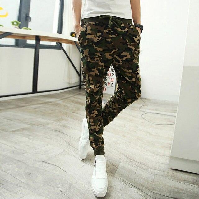 Камуфляж костюм военная форма камуфляж printng брюки мужчины брюки гарем штаны мальчики установлены смайлики тонкий зеленый синий m-2xl Z05