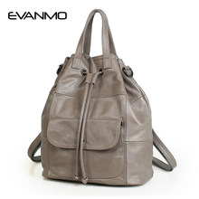 New Arrival Genuine Leather Handbags Feminine High Capacity Bags Girls  Newest Designer Dual-use Bags Women Popular Shoulder Bags 444681b3c0742