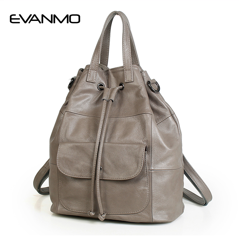 New Arrival Genuine Leather Handbags Feminine High Capacity Bags Girls Newest Designer Dual-use Bags Women Popular Shoulder Bags