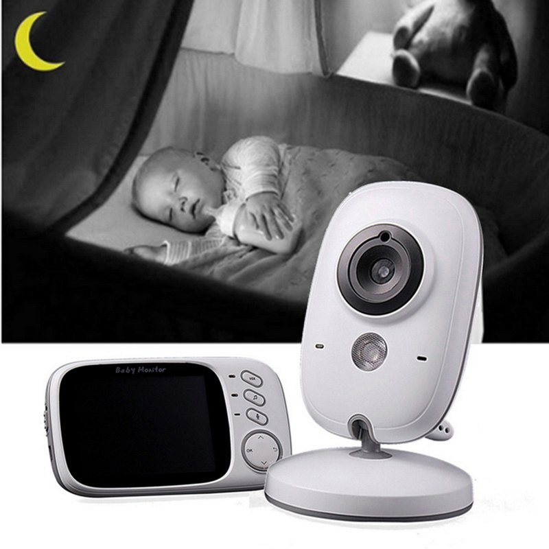 Image 3 - Wireless Baby Monitor VB603 3.2 Inch Electronic Babysitter Radio Video Baby Camera With Night Vision Temperature Monitoring-in Baby Monitors from Security & Protection