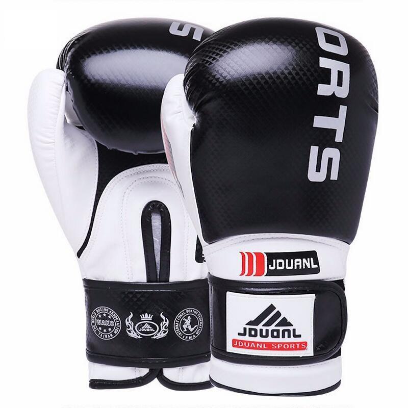лучшая цена Black Red Blue Boxing Gloves Sanda Karate Free Fight Sandbag Taekwondo Protector MMA Boxeo Muay Thai Mitts luva de box 10-12 oz