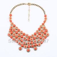 Новый Дизайн большой кулон красный Акриловые кластера прелестные женские ожерелье