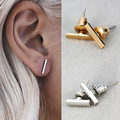 1 Pair Women's Fashion Jewelry 1 Shape Punk Simple Tiny Charm Ear Studs Earrings smt 102