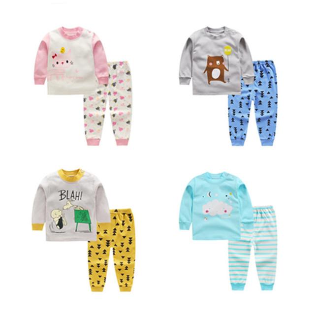 66c10c7d1 US $1.92 30% OFF|Aliexpress.com : Buy Spring Autumn Baby Boys Clothes Full  Sleeve T shirt And Pants 2pcs Cotton Suits Children Clothing Sets Toddler  ...