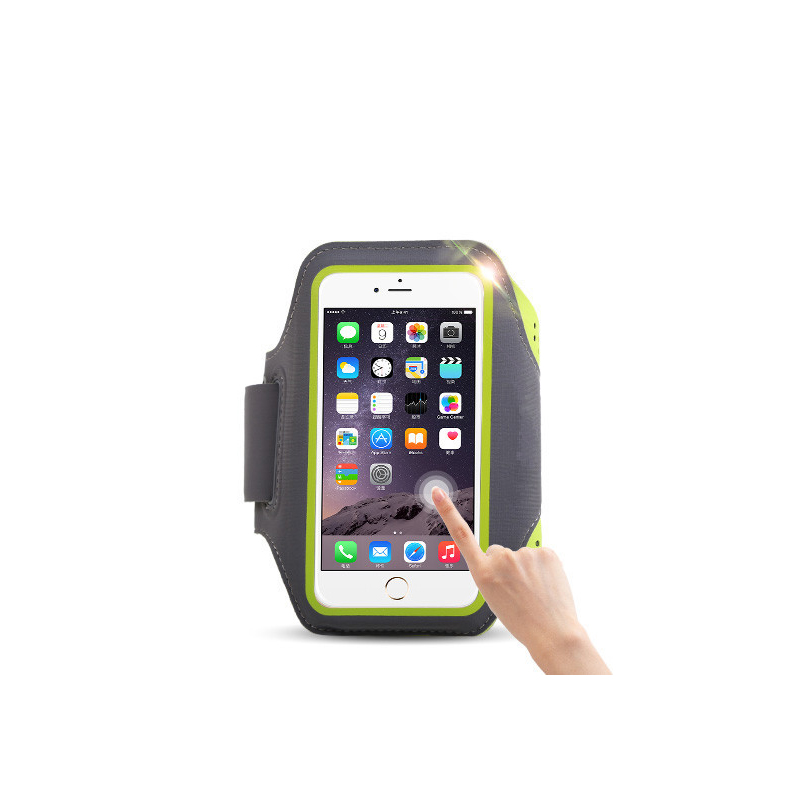 5 5 39 39 Waterproof Sports Jogging Gym Armband Running Bag Touch Screen Cell Phone Arm Wrist Band Hand Mobile Phone Case Holder in Running Bags from Sports amp Entertainment