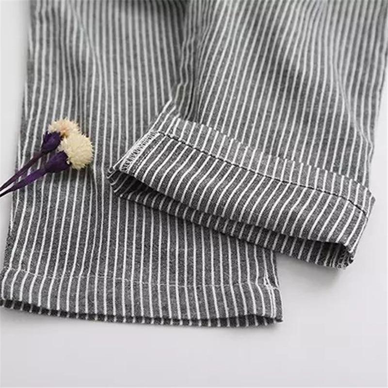 Bigsweety Cotton Linen Women Casual Pants 18 Fashion Loose Long Pants Elastic Waist Straight Striped Trousers Pantalon 9