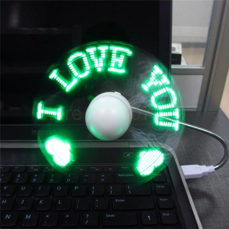 w wholesale programmable message mini fan