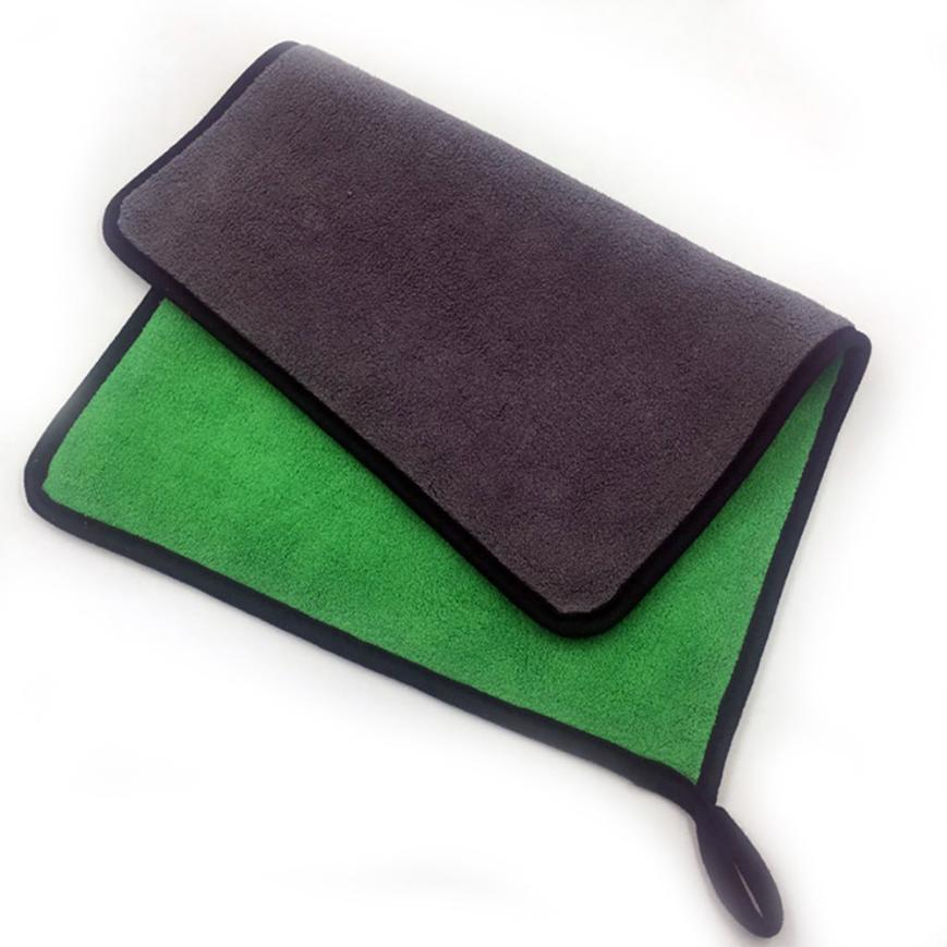 Green-Car-Cleaning-Brush-30x40cm-Absorbent-Car-Wash-Coral-Velvet-Towel-Cleaning-Drying-Cloth