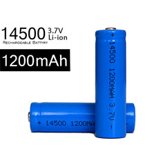 free shipping 10pcs/lot 14500 Battery 3.7V 1200 mAh Lithium Li-ion Battery Digital Camera Battery Flashlight Torch Battery