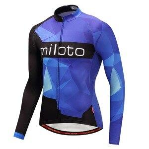 Image 3 - Мужская трикотажная рубашка MILOTO, зимняя велосипедная рубашка с длинным рукавом и длинным рукавом для езды на велосипеде, Майо, зима 2019