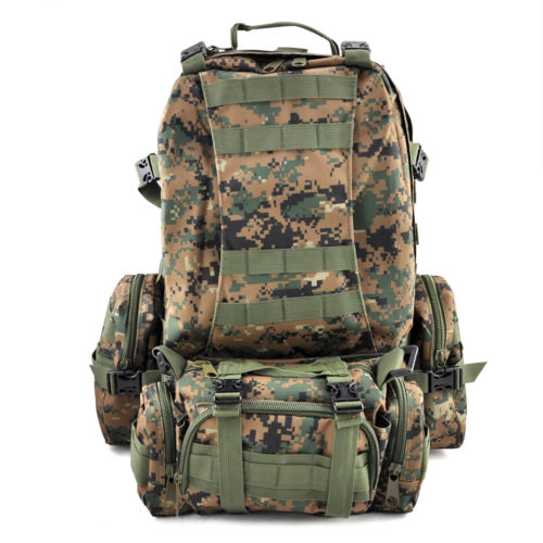 50 L 3 Day Assault Tactical Outdoor Military Rucksacks Backpack Camping bag - Jungle Digital D original stiga pure table tennis rackets blade pimples in rubber colorful player stiga rackets sports ping pong rackets paddles