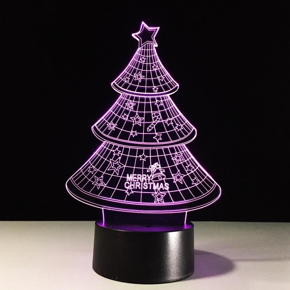 Novelty Christmas Tree 3D LED Night Light USB Visual Table Lamp Lampara Baby Sleep Light Fixture Bedroom Bedside Home Decor Gift