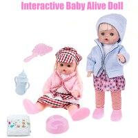 Interactive Dolls Reborn Baby Dolls Babyalive Silicone Baby Dolls Lifelike Realistic Cute Newborn Baby Alive Doll