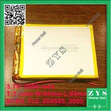 356585 three.7V 3000mah Lithium polymer Battery with Safety Board For PDA Pill PCs Digital Merchandise three.5x65x85mm 3000 mAh