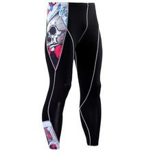 Men Fashion Compression 3D Print Pants Wolf Skull Leggings Crossfit Fitness Bodybuilding Quick Dry Tights Male Slimming Trousers