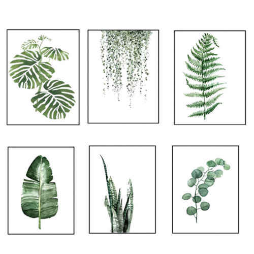 2 размера Северное зеленое растение, лист, холст художественный плакат печать Декоративная Настенная картина Картина домашний декор наклейка Новинка 30x40 см 40x50 см