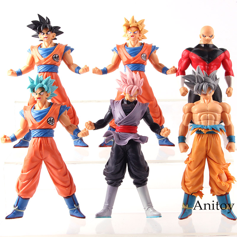 Dragon Ball SUPER Son Goku Ultra Instinct Super Saiyan God SS Gokou Black Jiren Action Figure PVC Model Toys for Boys 6pcs/set