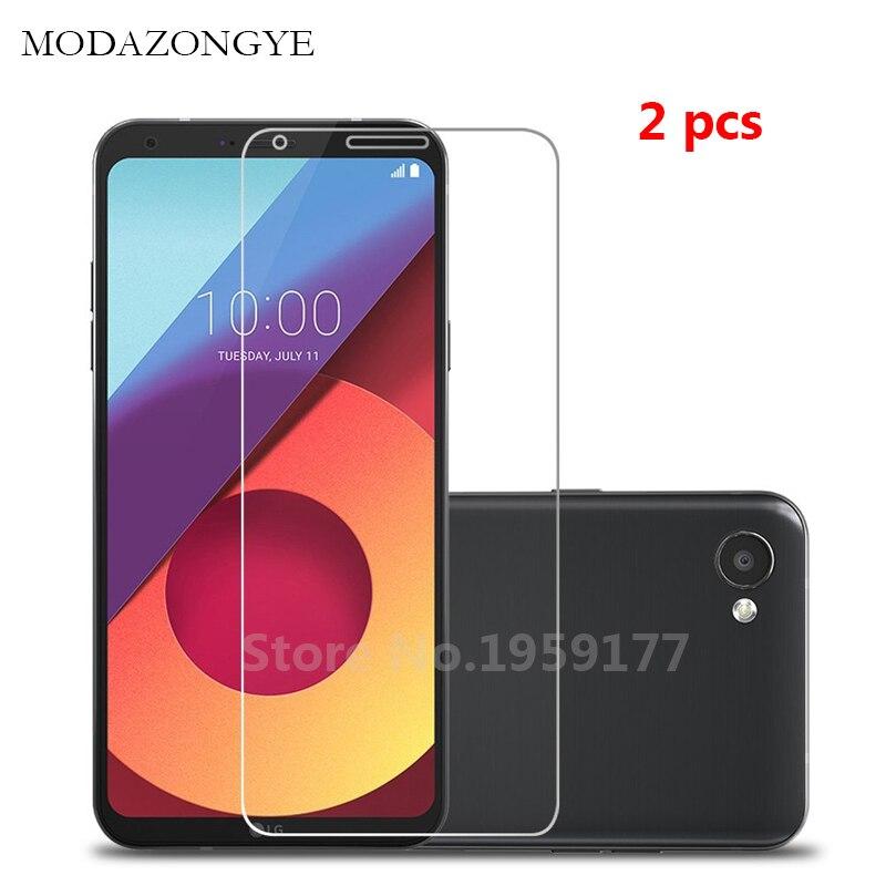 MODAZONGYE 2pcs For Tempered Glass LG Q6 Screen Protector LG