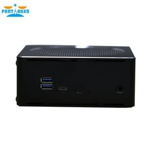 Partaker Mini Desktop PC Intel Core i5-6585R Processor Quad Core 2.8Ghz with HDMI Mini DP Barebone Computer Windows 10 Linux