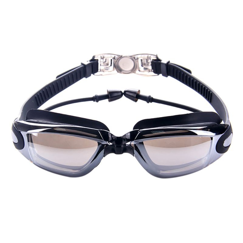 Professional Waterproof Silicone Swimming Goggles Anti-fog UV Swimming Glasses With Earplug Men Women Water Sports Swim Eyewear