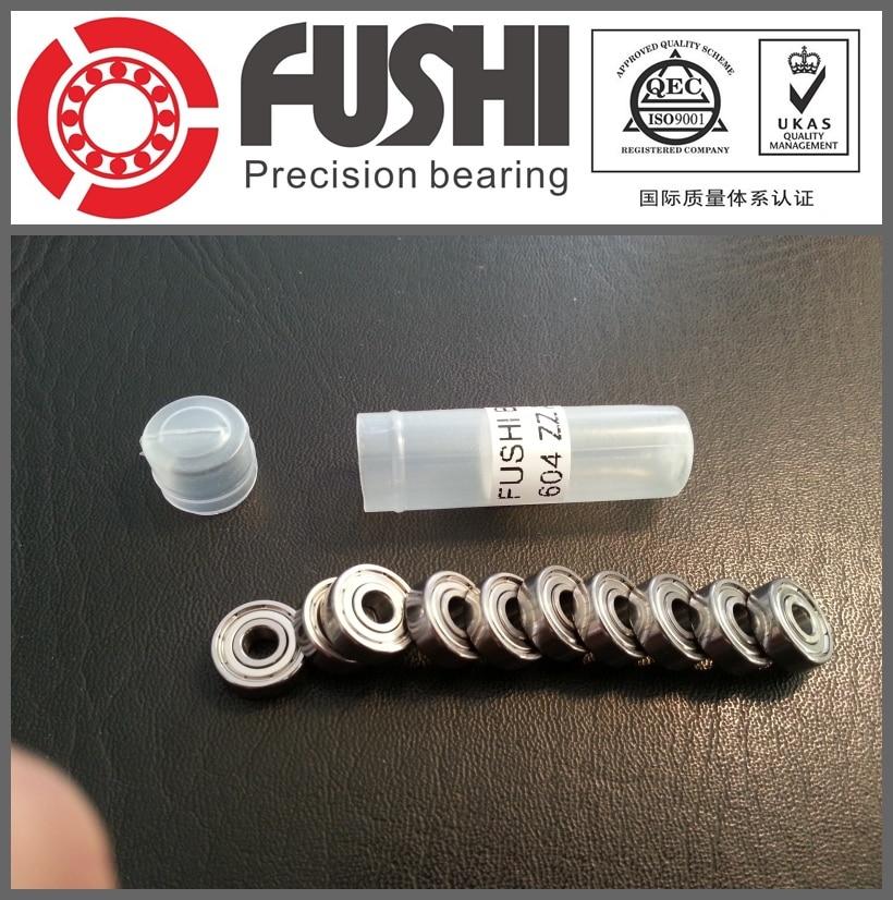 604ZZ Bearing ABEC-5 10PCS 4x12x4 MM Miniature 604Z Ball Bearings 604 ZZ EMQ Quality free shipping high quality bearing 10pcs 603zz abec 5 3x9x5mm miniature ball bearings 603 603z