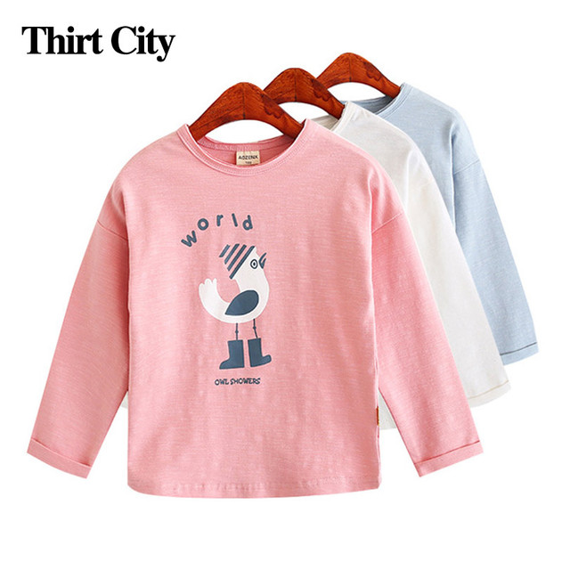 11.11 New Fashion Girls Sweatshirts Children Cartoon Cotton Sweatshirts Outerwear Long Sleeve T-Shirt Autumn Kids Clothes