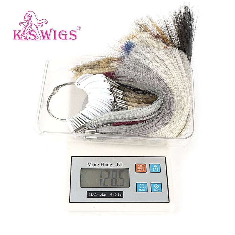 K S Wigs 100 Remy Human Hair Color Rings Color Charts 37 Colors Available Can Be Dyed For Salon Sample Free Shipping in Color Rings from Hair Extensions Wigs